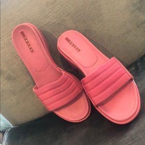 Prada Pink Wedge Slides,sz 8.5